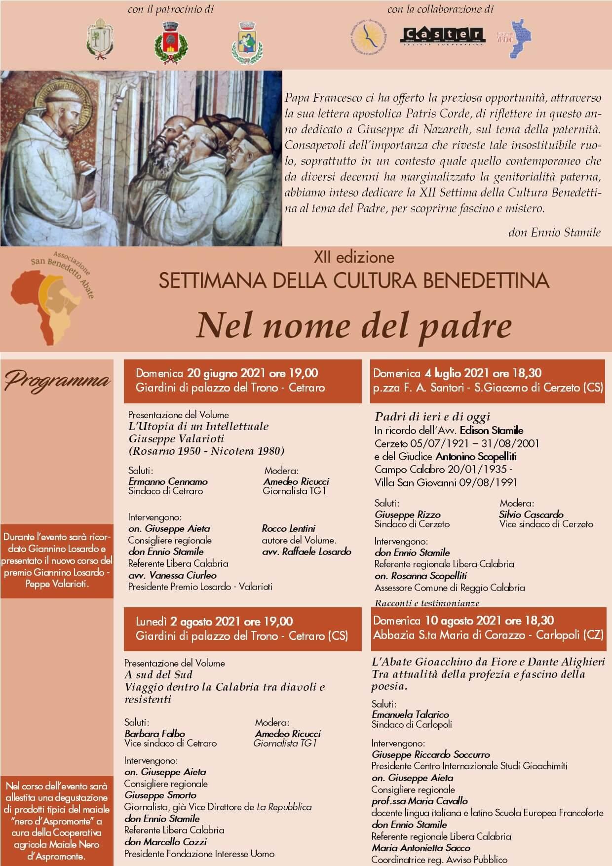 XII Settimana Cultura Benedettina
